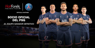 HotForex y Paris Saint-Germain renuevan la asociación para 2021-2022